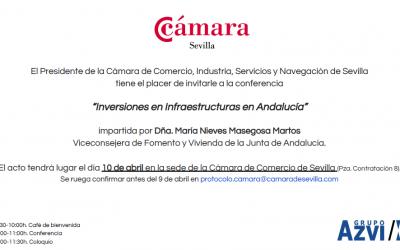 RTS en el Club Cámara de Sevilla con Viceconsejera Fomento y Vivienda de Andalucia
